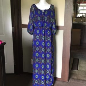 Charlotte Russe Maxi Dress XL Cold Shoulder